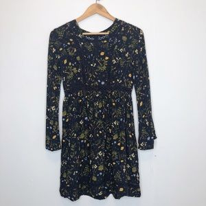 Earthbound floral bell sleep mini dress